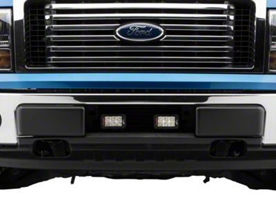 Vision X Two 5 in. LED Light Bars w/ Bumper Light Bar Mount (11-14 3.5L EcoBoost F-150)