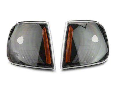 Axial Black Corner Lights with Amber Reflector (97-03 F-150)