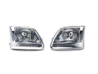 Axial Chrome Euro LED Headlights (97-03 F-150)