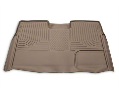 Husky WeatherBeater 2nd Seat Floor Liner - Full Coverage - Tan (09-14 F-150 SuperCrew)
