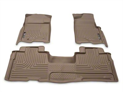 Husky WeatherBeater Front & 2nd Seat Floor Liners - Tan (09-14 F-150 SuperCab, SuperCrew)