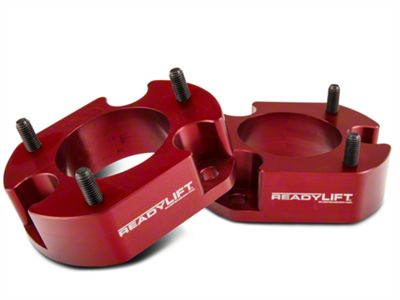 ReadyLIFT 2.5 in. Billet Aluminum Leveling Kit - Anodized Red (04-08 4WD; 04-14 2WD)