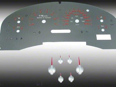 Stainless Steel Gauge Face Kit - Red (04-08 F-150 XLT)