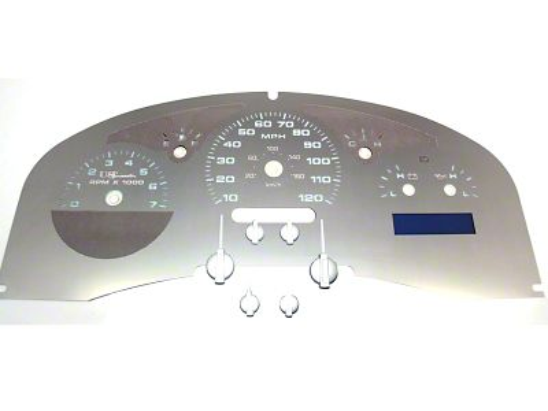 Stainless Steel Gauge Face Kit - White (04-06 F-150 Lariat)