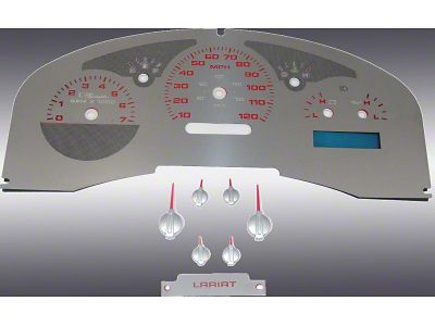 Stainless Steel Gauge Face Kit - Red (07-08 F-150 Lariat)