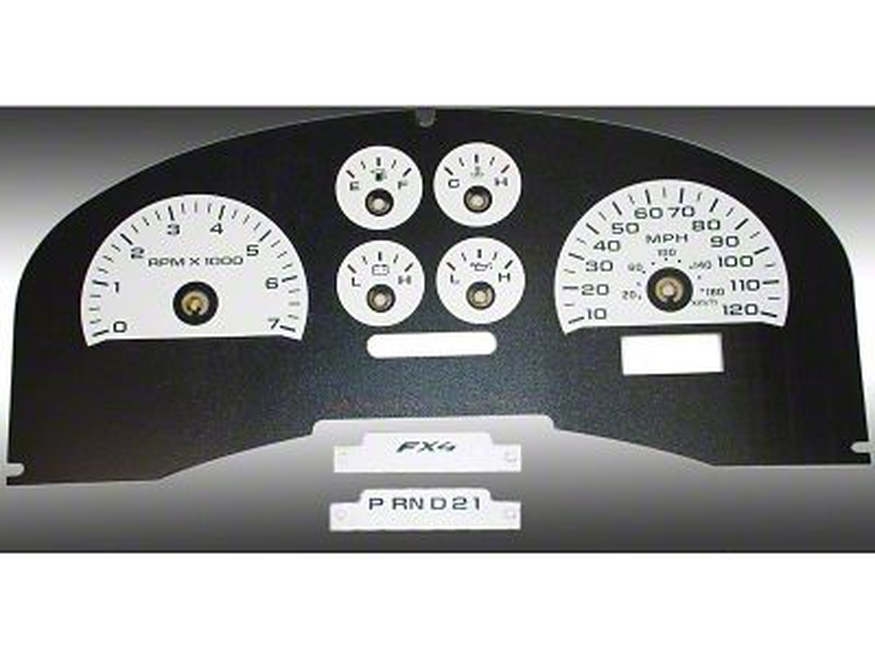Daytona Edition Gauge Face Kit - White (04-08 F-150 FX4)