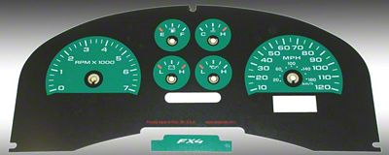 Daytona Edition Gauge Face Kit - Green (04-08 F-150 FX4; 07-08 F-150 FX2)