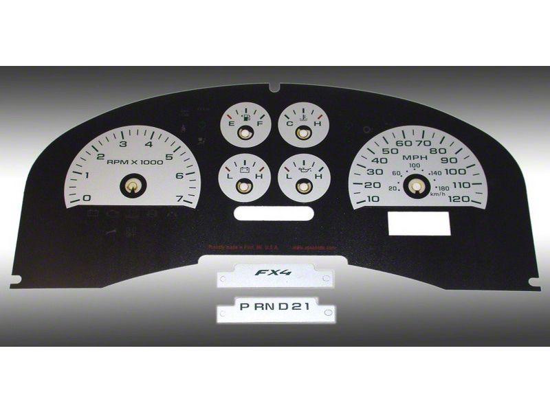 Daytona Edition Gauge Face Kit - Silver (04-08 F-150 FX4; 07-08 F-150 FX2)