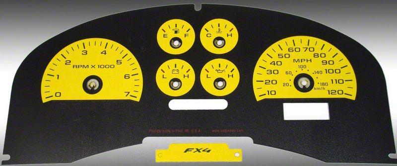 Daytona Edition Gauge Face Kit - Yellow (04-08 F-150 FX4; 07-08 F-150 FX2)