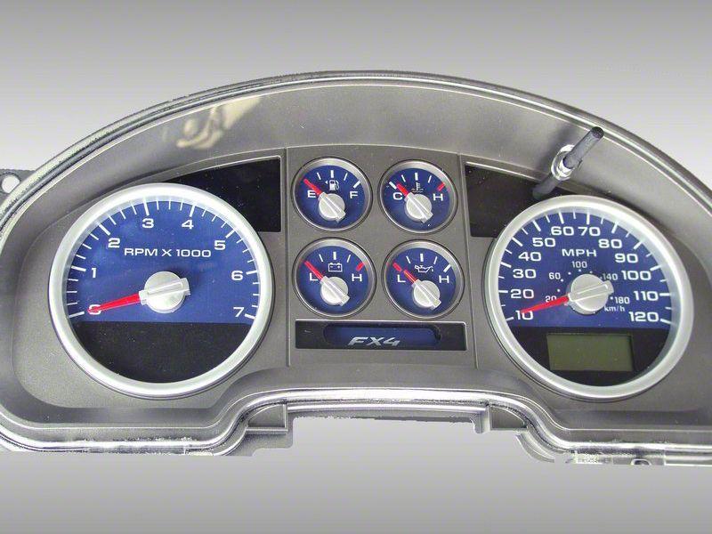 Daytona Edition Gauge Face Kit - Blue (04-08 F-150 FX4; 07-08 F-150 FX2)