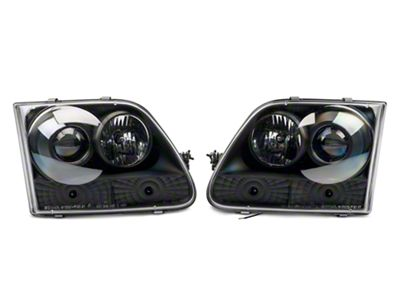 Axial Black Projector Headlights with Halo (97-03 F-150)