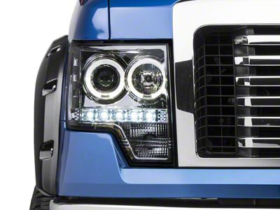 Axial Chrome Projector Headlights w/ Halo (09-14 F-150 w/o Factory HID)