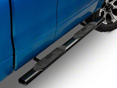 Raptor Series 4 in. Cab Length Oval Tube Side Step Bars - Black (04-14 F-150)