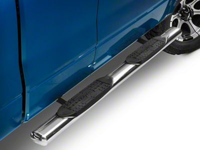 Raptor Series 5 in. Cab Length Oval Tube Side Step Bars - Stainless (04-14 F-150)