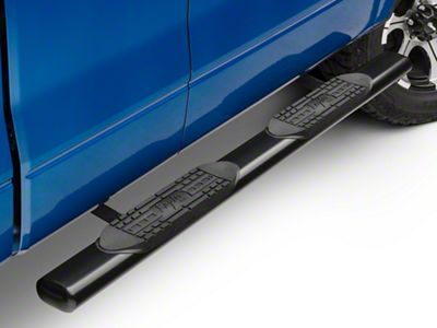 Raptor Series 5 in. Cab Length Oval Tube Side Step Bars - Black (04-14 F-150)