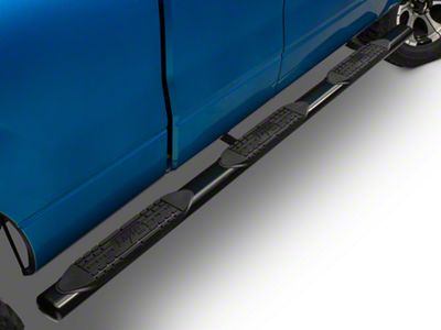 Raptor Series 4 in. Wheel to Wheel Oval Tube Side Step Bars - Black (04-14 F-150 SuperCab w/ 6.5 ft. Bed; 09-14 SuperCrew w/ 5.5 ft. Bed)