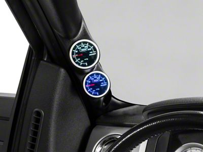 Dual Color Boost/Vac Gauge - Mechanical - Blue/White (97-19 F-150)