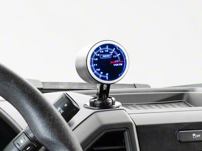 Dual Color Voltmeter Gauge - Electrical - Blue/White (97-18 F-150)