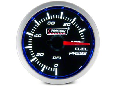 Dual Color Fuel Pressure Gauge - Electrical - Blue/White (97-19 F-150)