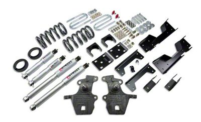 Belltech Stage 3 Lowering Kit w/ Street Performance Shocks - 4 in. or 5 in. Front / 6 in. Rear (01-03 2WD V8 F-150 SuperCrew, Excluding Harley Davidson)