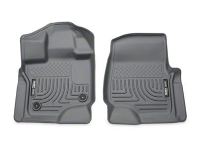 Husky WeatherBeater Front Floor Liners - Gray (15-19 F-150 SuperCab, SuperCrew)