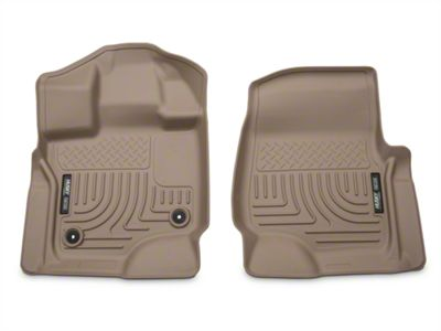Husky WeatherBeater Front Floor Liners - Tan (15-19 F-150 SuperCab, SuperCrew)