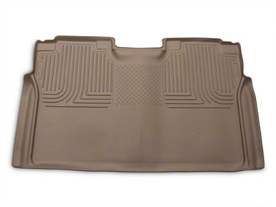 Husky WeatherBeater 2nd Seat Floor Liner - Full Coverage - Tan (15-19 F-150 SuperCrew)
