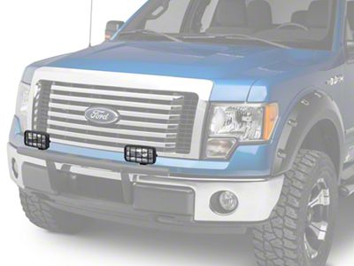 Delta 250 Series Rectangular Driving Light Kit w/ Stone Guard - 55 Watt Halogen - Pair (97-19 F-150)