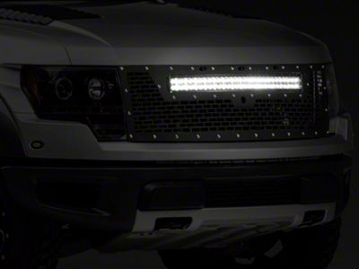 Rigid Industries Upper Replacement Grille w/ 30 in. RDS-Series LED Light Bar - w/o Front Camera Hole (10-14 F-150 Raptor)