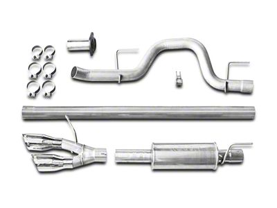 Roush Single Exhaust System w/ Polished Y-Pipe Tip - Side Exit (11-14 3.5L EcoBoost F-150)