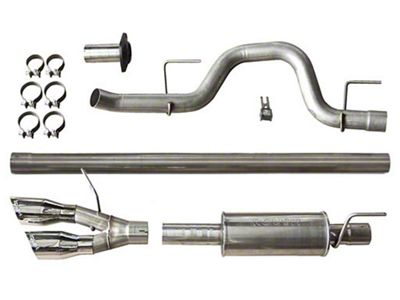 Roush Single Exhaust System w/ Polished Y-Pipe Tip - Side Exit (11-14 6.2L F-150, Excluding Raptor)