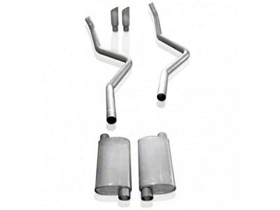 Stainless Works 2.5 in. Turbo Chambered Dual Exhaust System - Same Side Exit - Performance Connect (09-10 5.4L F-150, Excluding Raptor)