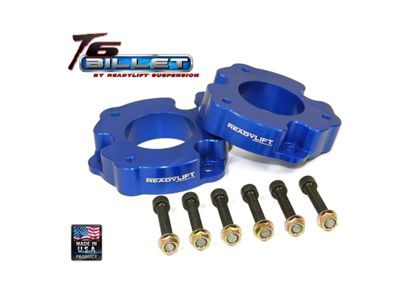 ReadyLIFT 2 in. Billet Aluminum Leveling Kit - Anodized Blue (04-14 2WD/4WD F-150)