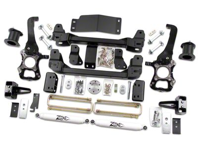 Zone Offroad 4 in. Suspension Lift Kit w/ Shocks (2014 4WD F-150, Excluding Raptor)