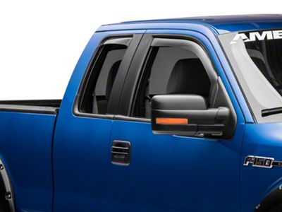 Weathertech Front & Rear Side Window Deflectors - Light Smoke (09-14 F-150 SuperCab, SuperCrew)