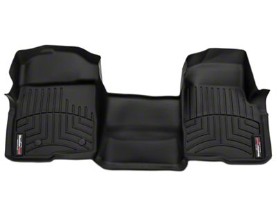 Weathertech DigitalFit Front Over the Hump Floor Liner - Black (09-14 F-150 SuperCab, SuperCrew)