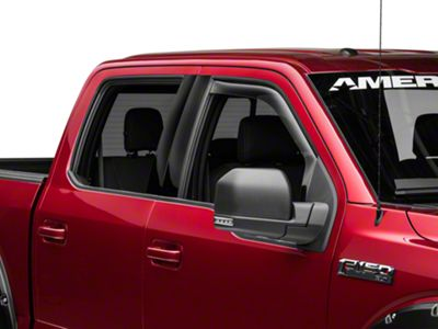 Weathertech Front Side Window Deflectors - Light Smoke (15-19 F-150)
