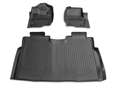 Weathertech DigitalFit Front & Rear Floor Liners - Black (15-19 F-150 SuperCab, SuperCrew)
