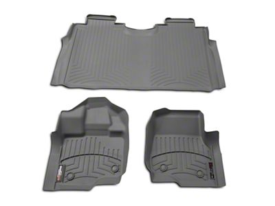 Weathertech DigitalFit Front & Rear Floor Liners - Gray (15-19 F-150 SuperCab, SuperCrew)