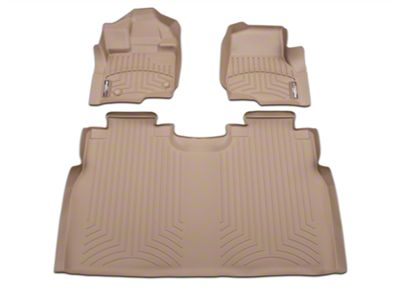 Weathertech DigitalFit Front & Rear Floor Liners - Tan (15-19 F-150 SuperCab, SuperCrew)