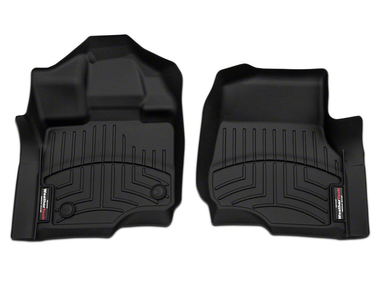 Weathertech DigitalFit Front Floor Liners - Black (15-18 F-150 SuperCab, SuperCrew)