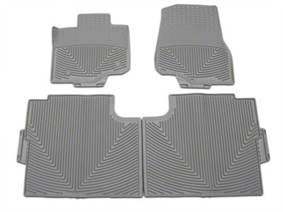 Weathertech All Weather Front & Rear Rubber Floor Mats - Gray (15-19 F-150 SuperCab, SuperCrew)