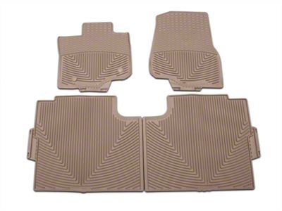 Weathertech All Weather Front & Rear Rubber Floor Mats - Tan (15-19 F-150 SuperCab, SuperCrew)
