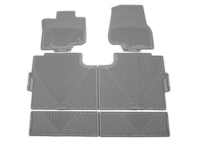 Weathertech All Weather Front, Rear, & Under Rear Seat Rubber Floor Mats - Gray (15-19 F-150 SuperCrew)