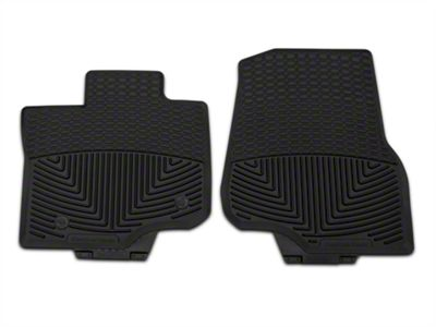 Weathertech All Weather Front Rubber Floor Mats - Black (15-18 F-150 SuperCab, SuperCrew)