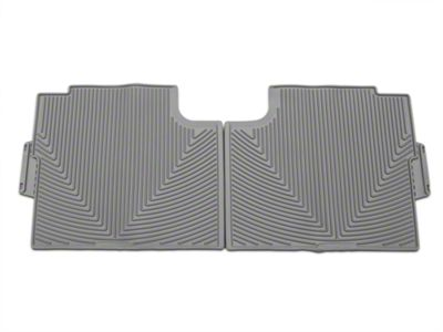Weathertech All Weather Rear Rubber Floor Mats - Gray (15-19 F-150 SuperCab, SuperCrew)