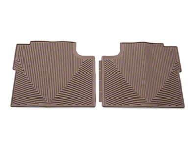 Weathertech All Weather Rear Rubber Floor Mats - Tan (15-19 F-150 SuperCab, SuperCrew)