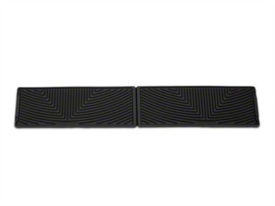 Weathertech All Weather Under Rear Seat Rubber Floor Mats - Black (15-19 F-150 SuperCrew)