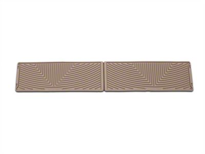 Weathertech All Weather Under Rear Seat Rubber Floor Mats - Tan (15-19 F-150 SuperCrew)