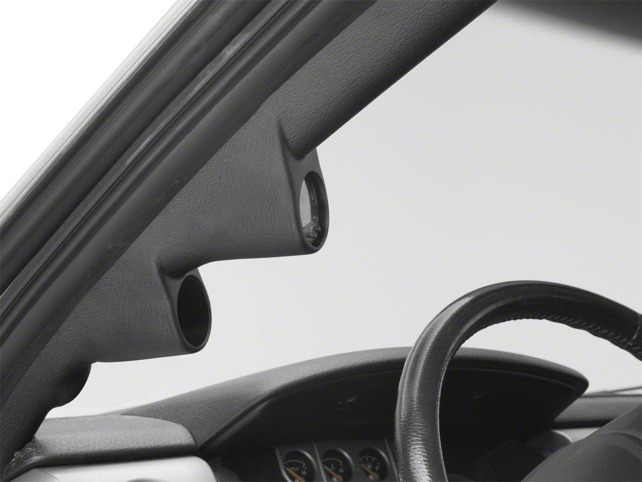 Auto Meter Pillar Gauge Pod w/o Speaker Cutout - Dual (09-14 F-150)